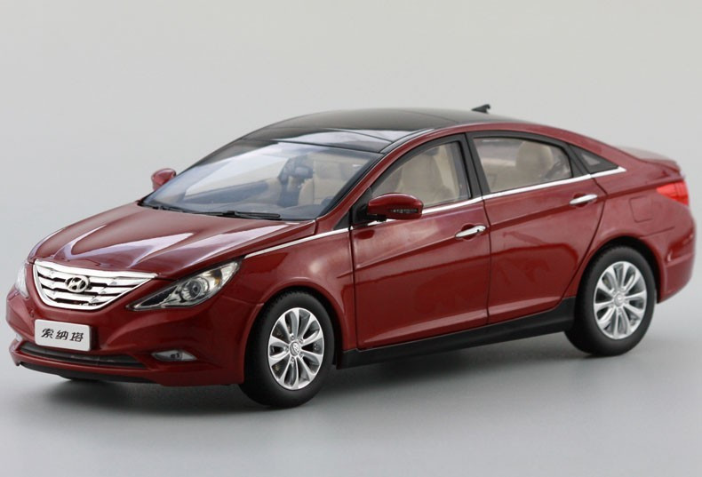1 18 hyundai sonata red diecast car model. Black Bedroom Furniture Sets. Home Design Ideas