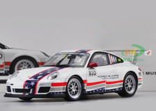 1/18 PORSCHE 911 GT3 CUP #810 (WHITE) DIECAST CAR MODEL