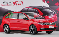 1/18 SKODA RAPID SPACEBACK (RED) CAR MODEL