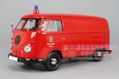 1 18 schuco volkswagen vw t1 transporter firefight berlin. Black Bedroom Furniture Sets. Home Design Ideas
