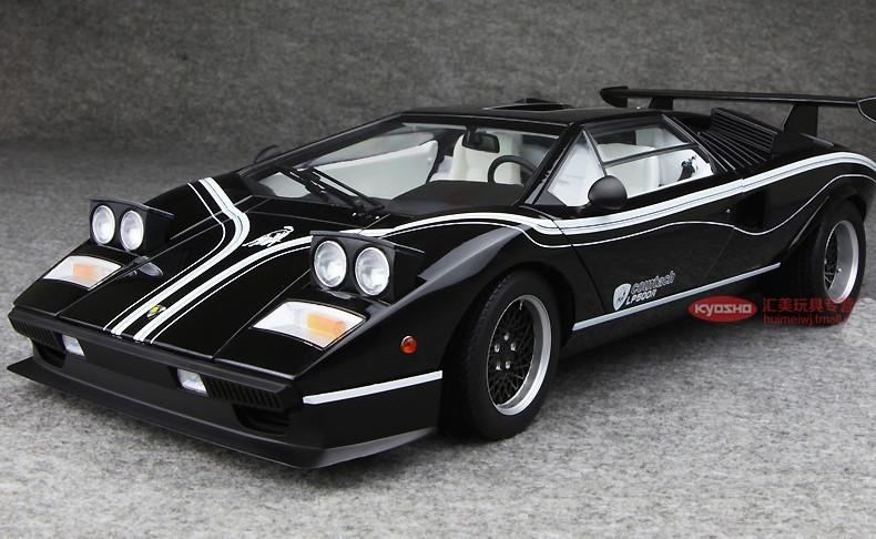 Kyosho 1 12 Lamborghini Countach Lp500r Black Diecast Model Livecarmodel Com