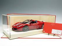 MR 1/18 Ferrari 458 Speciale Aperta (Red w/ Blue/White Stripes)