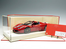 MR 1/18 Ferrari 458 Speciale Aperta (Red w/ Blue/White Stripes)