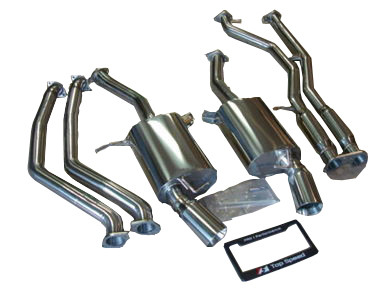 BMW E90 E92 E93 335i 335xi Coupe Sedan 07-10 Catback Exhaust System + Mid pipe