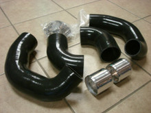 Black 4Ply Silicone Turbo Hose Kit Upgrade Hard Pipe Hose Kit 4pcs GTR R35 09-15
