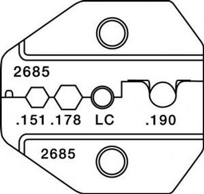 Paladin CrimpAll, FC/SC/ST/LC/SMA/MT-RJ Type Die