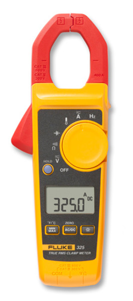 Fluke 325 True-RMS AC/DC Clamp Meter, 400A with Temperature