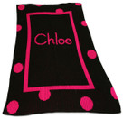 Large Polka Dot Personalized Butterscotch Blankee