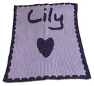 Heart Personalized Butterscotch Blankee