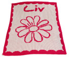 Flower Personalized Butterscotch Blankee