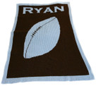 Football Personalized Stroller Butterscotch Blankee