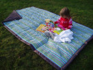 Earth Stripe Water Resistant Outdoor Blanket by Tuffo