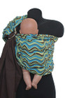 Blue Retro Waves Reversible Baby Sling
