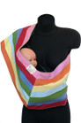 Rainbow Stripes Reversible Baby Pouch