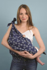 Breastfeeding Butterfly - Cherry Blossom Denim