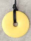 Sunshine Yellow Donut Pendant Teething Bling Necklace