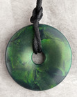 Emerald Green Shimmer Pendant Teething Bling Necklace