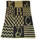 Alphabet Blocks Non-Personalized Butterscotch Stroller Blankee