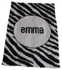 Zebra Stripe Personalized Butterscotch Blankee