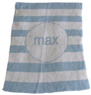 Modern Stripes Personalized Butterscotch Stroller Blankee