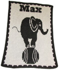 Elephant On Ball Personalized Butterscotch Stroller Blankee