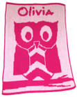 Personalized Butterscotch Stroller Blankee with Owl
