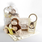 """Five Little Monkeys"" Five-Piece Baby Gift Set in Keepsake Basket"