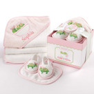 """Tillie the Turtle"" Four-Piece Bathtime Gift Set"