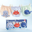 """Beach Bums"" 3-Piece Diaper Cover Baby Gift Set (0-6 Months)"