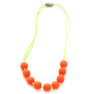 Juniorbeads Madison Jr. Necklace (Glow in the Dark)- Watermelon