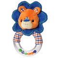 "Mary Meyer  Levi Lion 5"" Ring Rattle,"