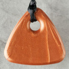 Bronze Triangle Pendant Teething Bling Necklace