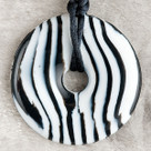 Zebra Donut Pendant Teething Bling Necklace