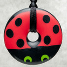 Lovebug Donut Pendant Teething Bling Necklace