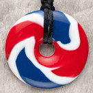 Star Spangled Donut Pendant Teething Bling Necklace