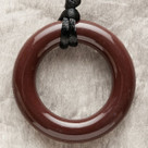Dark Brown Ring Pendant Teething Bling Necklace