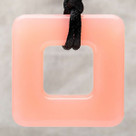Pink Cupcake Square Pendant Teething Bling Necklace