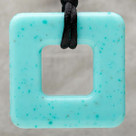 Jade Square Pendant Teething Bling Necklace