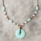 Jade Beaded Teething Bling Necklace