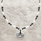 Zebra Beaded Teething Bling Necklace