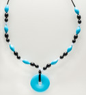Turquoise Beaded Teething Bling Necklace