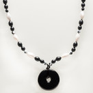 Onyx Beaded Teething Bling Necklace