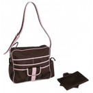 Kalencom Multitasker Diaper Bag - Chocolate/Pink