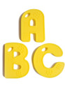 ABC Teething Bling Letters, Yellow