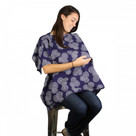 Kalencom Peek-A-Boo Nursing Cape, Navy Stitches
