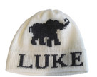 Butterscotch Personalized Knitted Elephant Hat