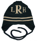 Butterscotch Personalized Monogrammed Stripe Knitted Hat with Earflaps