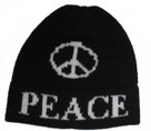 Butterscotch Personalized Large Peace Sign Knitted Hat