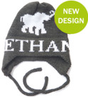 Butterscotch Personalized Elephant Knitted Hat with Earflaps