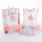 """Baby Cakes"" Cupcake Two-Piece Layette Set"